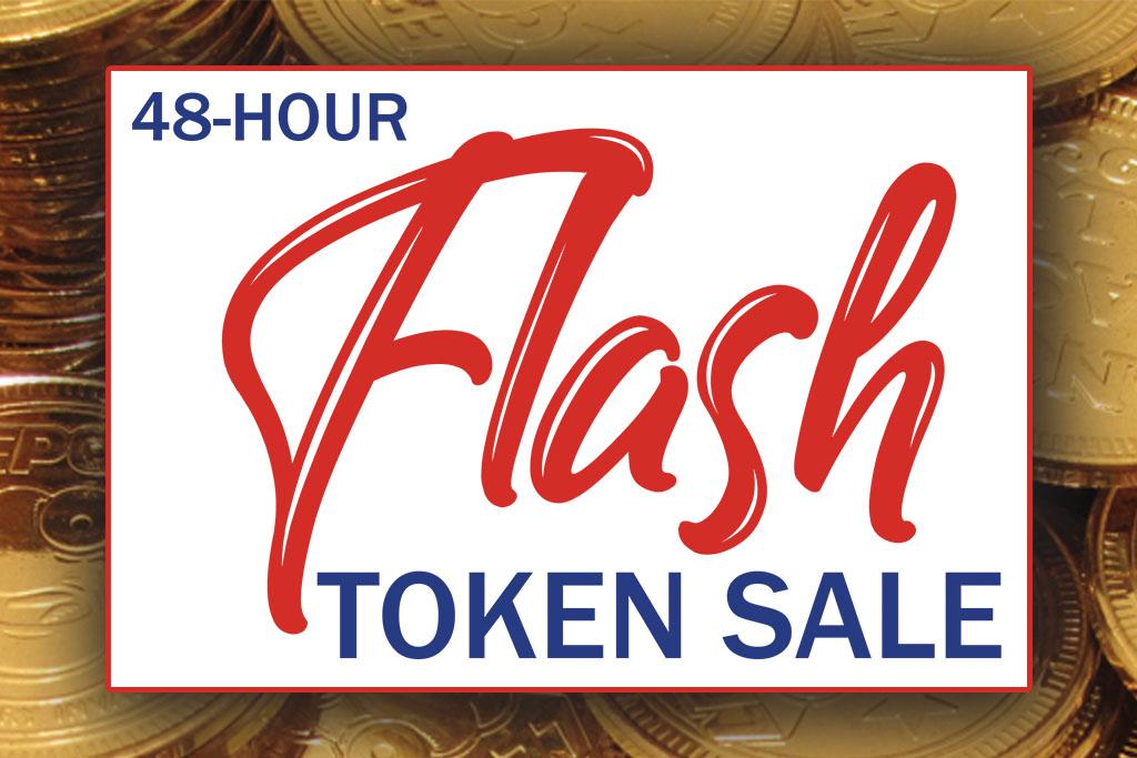 Flash Token Sale Raleigh